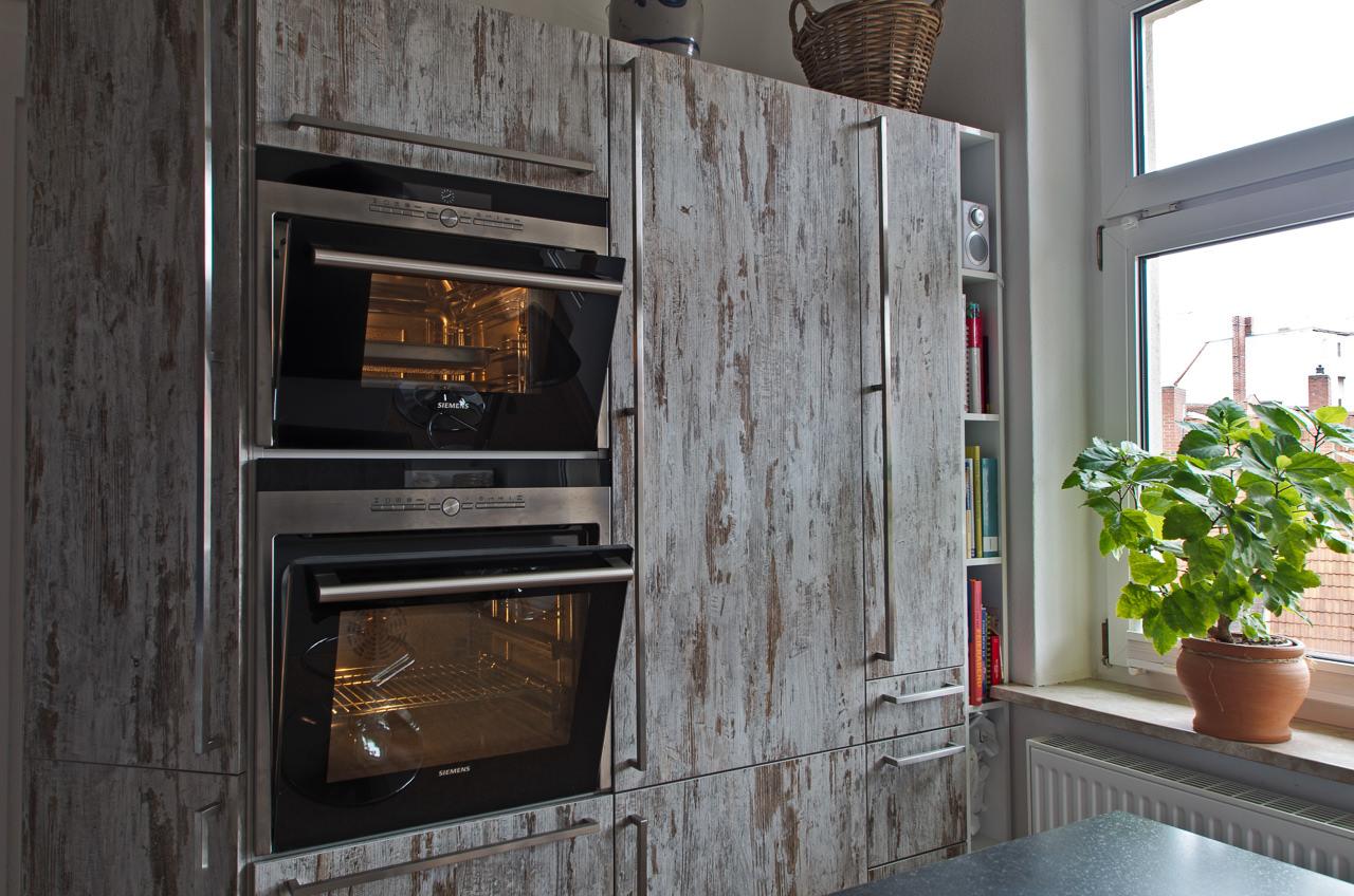 Küche mit holzoptik front   ihr küchenstudio im saale orla kreis