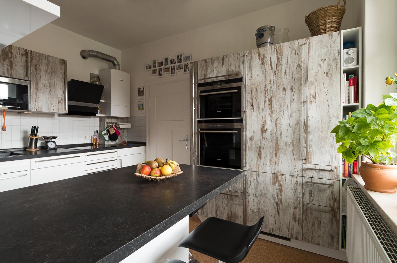 Küche mit Holzoptik-Front - Ihr Küchenstudio im Saale-Orla ...